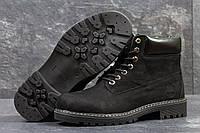 Мужские ботинки Timberland Зима. Кожа Мех 100% Черные