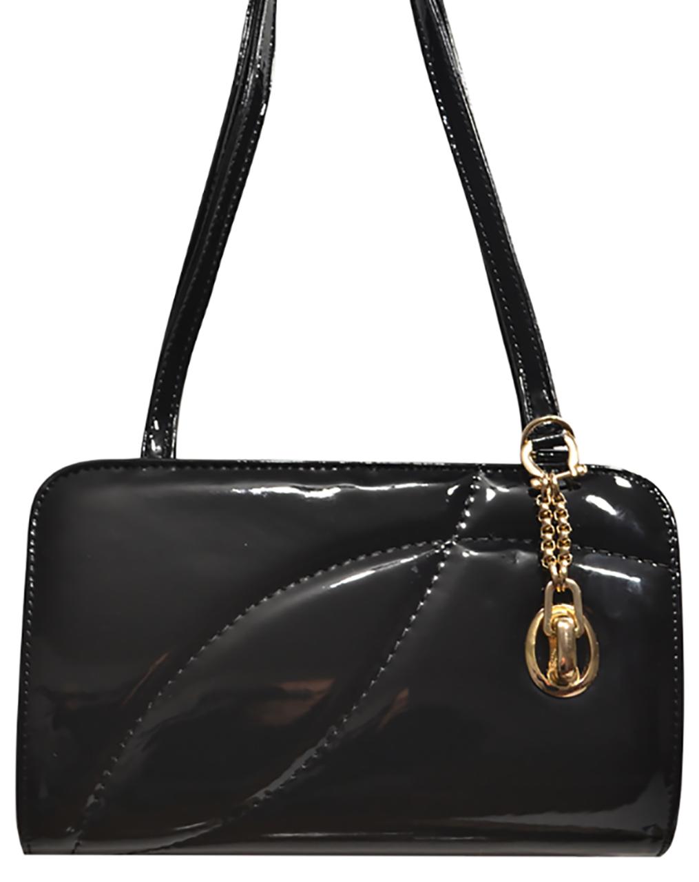 50557e57e89e L-S Клатч лаковый черный стильный нарядный - Женские сумки оптом и в  розницу купить дешево от