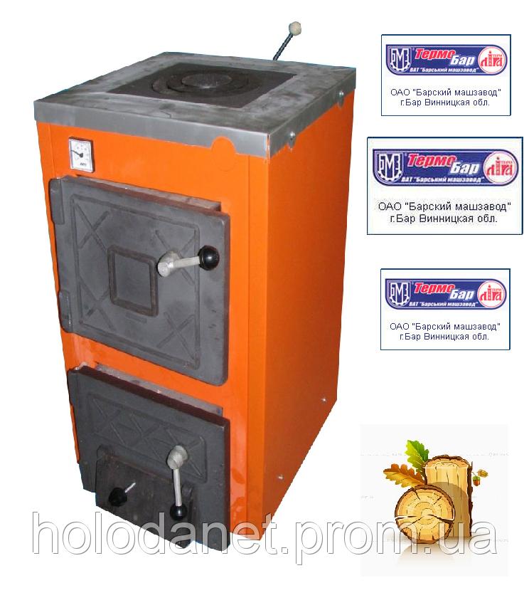 Котел твердотопливный Термобар АКТВ-16 (плита, 1 комфорка) длительного горения