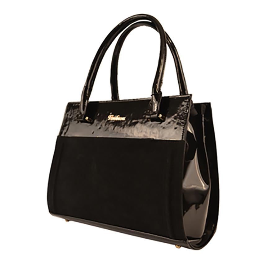 86debf8cc043 L-S Сумка черная лак замш классическая стильная женская - Женские сумки  оптом и в розницу купить