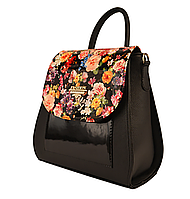 L-S Сумка-рюкзак женский черный  молодежный