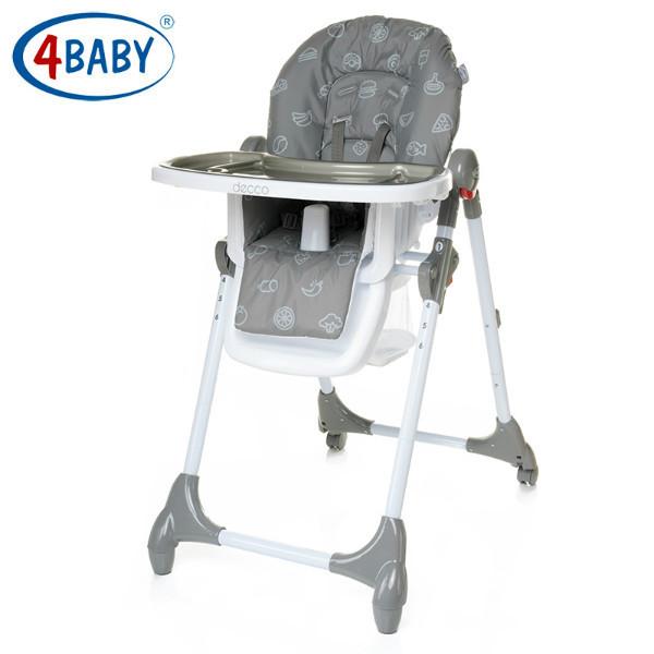 Стульчик для кормления 4 Baby  Decco (Grey)