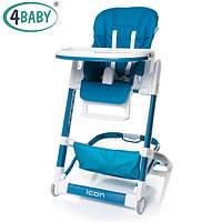Детский Стульчик для кормления 4 Baby стул д/кормления ICON (Navy Blue)