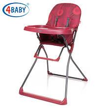 Детский Стульчик для кормления 4 Baby стул д/кормления New Flower (Dark Red) т.красный