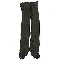 Длинные перчатки женские шерстяные стильные ПЖ1194