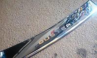 Защитная хром накладка на задний бампер с загибом глянец Renault duster (рено дастер 2010+)