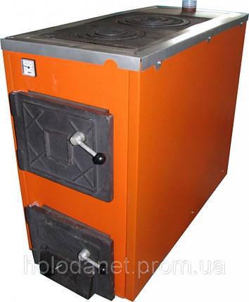 Котел твердотопливный Термобар АКТВ-20 (плита, 2 комфорки) длительного горения, фото 2