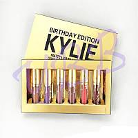 Набор матовых помад Kylie gold birthday edition set 6pcs