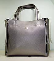Женская сумочка из серебристой эко-кожи, новая модель 2018 трансформер