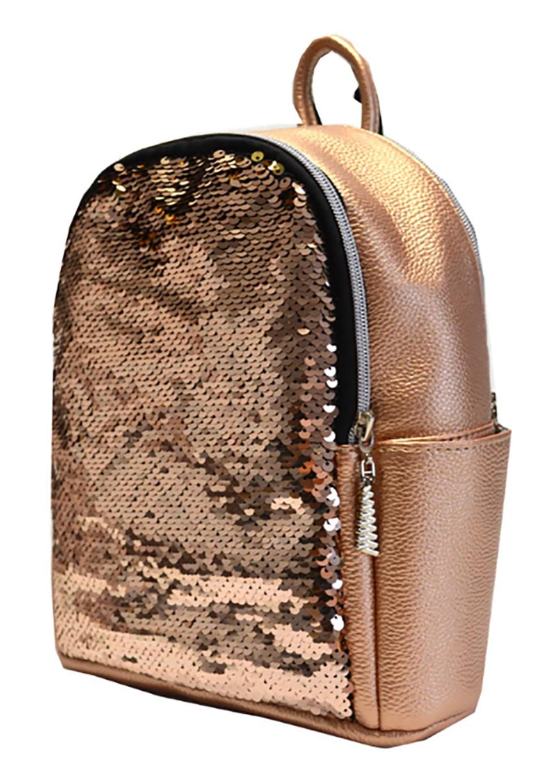 L-S Рюкзак маленький медный девчачий модный с пайетками - Женские сумки  оптом и в розницу купить 996969f824d