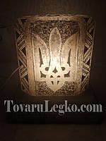Лампа из соли - герб с надписью (12 кг)
