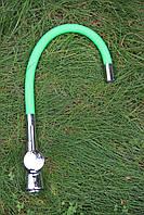 Кухонный смеситель Germece 37 OP Lime green гибкий излив