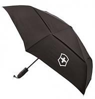 Складной зонт VICTORINOX TRAVEL ACCESSORIES 4.0/Black, полуавтоматический из полиэстера, черный Vt311707.01