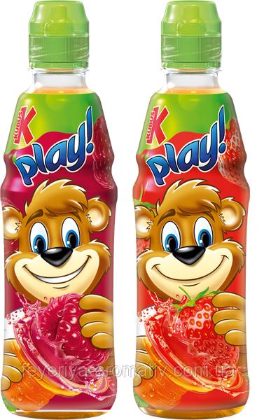 Детский витаминизированный напиток Kubus Play! без консервантов и красителей 500мл (Польша)