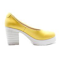 Женские кожаные туфли на каблуке UNCIA SHOES