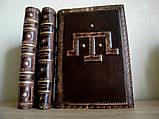 Ежедневник блокнот кожаная обложка герб тризуб ручная работа формат а5 оригинальный подарок, фото 10