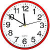 Часы настенные кварцовые 23 см красные N51111765