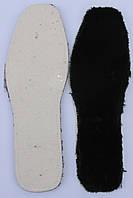 Стелька черный мутон на белом фетре размерная 36-48р