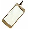 Оригинальный тачскрин / сенсор (сенсорное стекло) для Xiaomi Redmi 4X (золотой цвет)