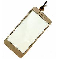 Оригинальный тачскрин / сенсор (сенсорное стекло) для Xiaomi Redmi 4X (золотой цвет), фото 1