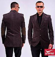 Модный стильный вельветовый мужской пиджак