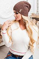 Легка коричнева шапка осінь/весна Sonia