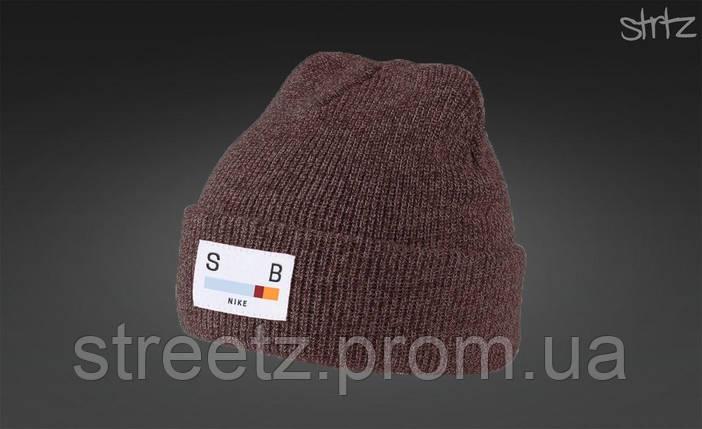 Теплая зимняя шапка Nike SB / Найк СБ, фото 2