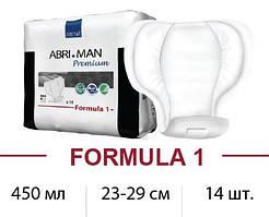 Урологические прокладки ABENA Abri-Man Premium Formula-1 450ml 23x29cm, 14шт., Дания