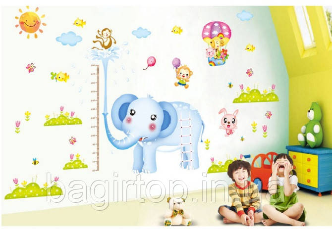 Інтер'єрна наклейка на стіну Ростомір слоник (xy1112)