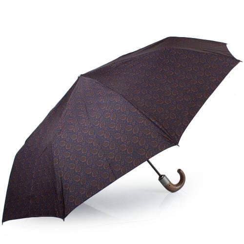 Качественный мужской автоматический зонт, антиветер  ZEST Z43942-15, цвет коричневый.