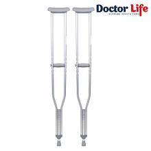 Костыли подмышечные алюминиевые (пара) - 10021, H=94-114 см, Doctor Life