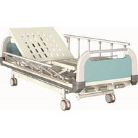 Кровать больничная E-31 в стандартной комплектации: матрас, стойка инфузионная