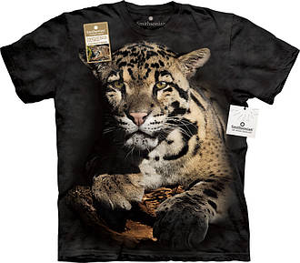 3D футболка мужская The Mountain р.S 46-48 RU футболки мужские с 3д рисунком (Дымчатый Леопард), фото 2