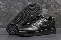 Кроссовки мужские Nike Air Force. Кожа 100% Черные