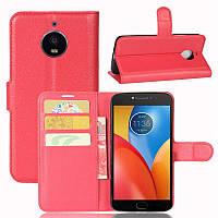 Чехол Motorola Moto E Plus / E4 Plus / XT1771 книжка PU-Кожа красный