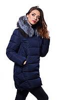 Куртка женская зимняя JARIUS 17-111 Т.СИНИЙ