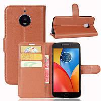 Чехол Motorola Moto E Plus / E4 Plus / XT1771 книжка PU-Кожа коричневый