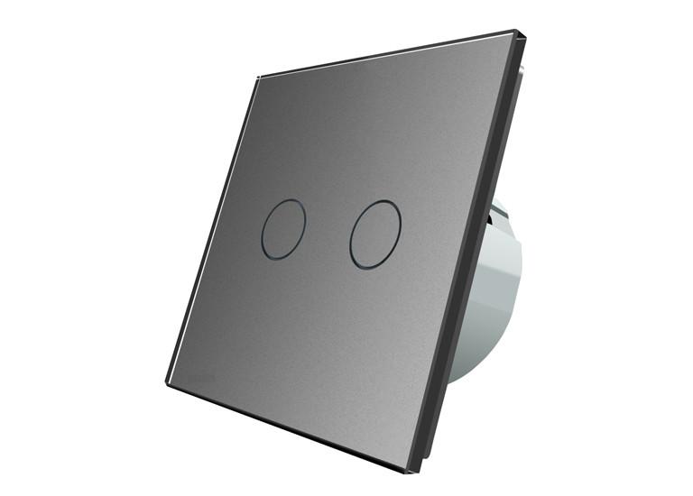 Сенсорный выключатель Livolo Two touch Gray