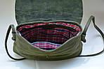 Кожаная сумка VS129  gray brown 28х25х9 см, фото 7