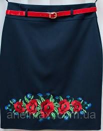 Женская юбка с вышиванкой большого размера