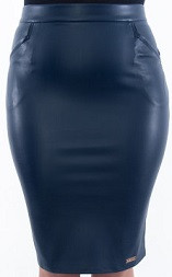 Кожаная юбка для полных женщин