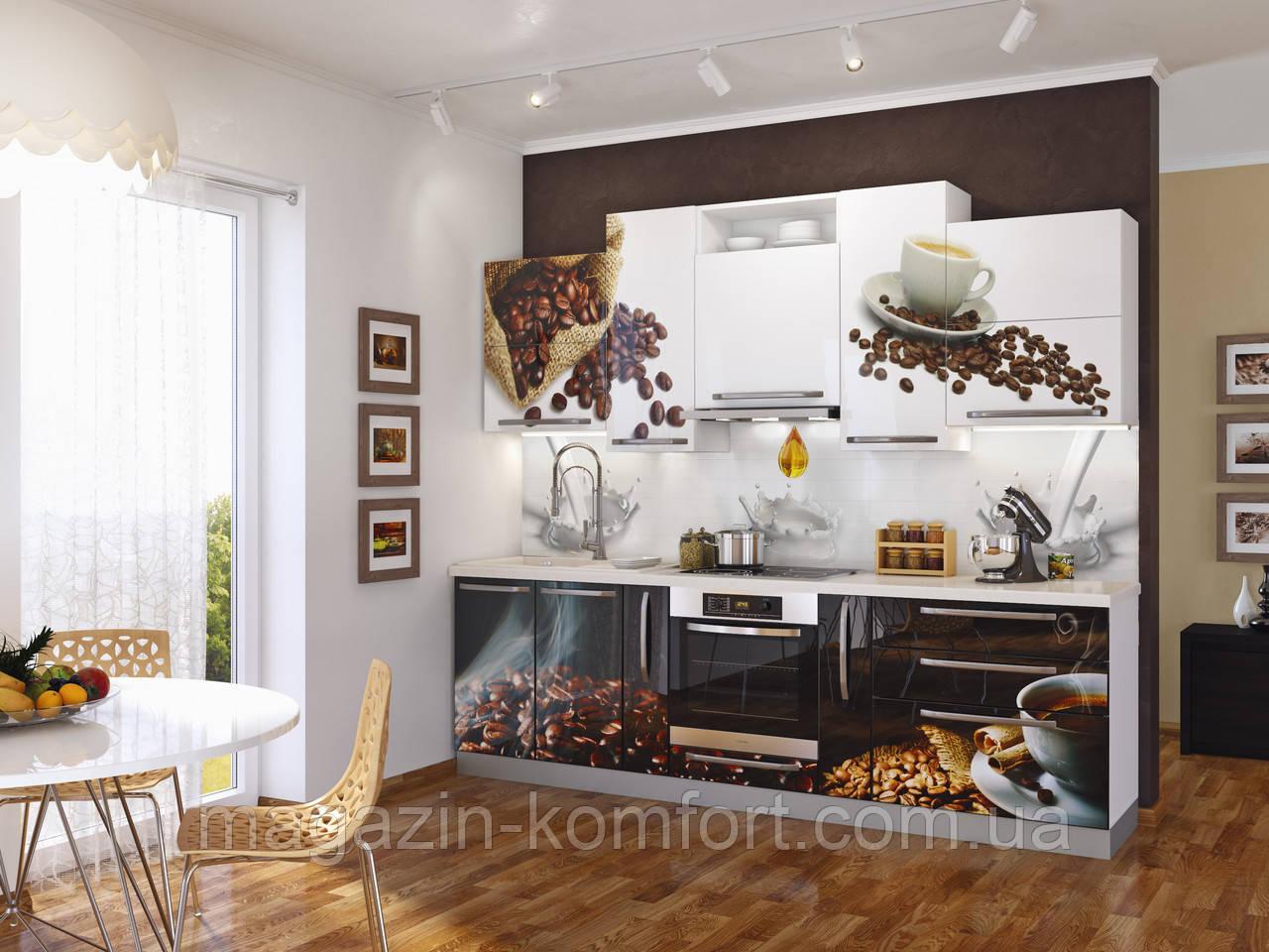 Кухня Кофе (МДФ +УФ печать) 2,6м