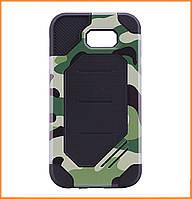 Бронированный противоударный TPU+PC чехол MOTOMO (Military) для Samsung A520 Galaxy A5 (2017) Сamouflage/Green, фото 1