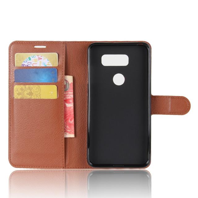 чехол книжка LG V30 коричневый