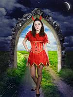 Ведьмочка-Красный огонек. 152-176 см. Детские и взрослые карнавальные костюмы на Хэллоуин