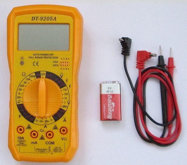 Цифровой мультиметр DT-9205A (модель 2017 года)