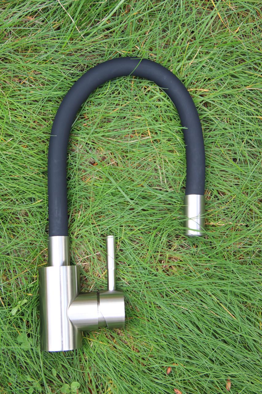 Смеситель для кухни Germece 7105 BW черный гибкий излив