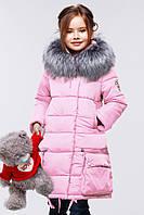 Куртка зимняя пуховик Малика на девочку рост 116, 122, 128, 134, 140,146, 152, 158