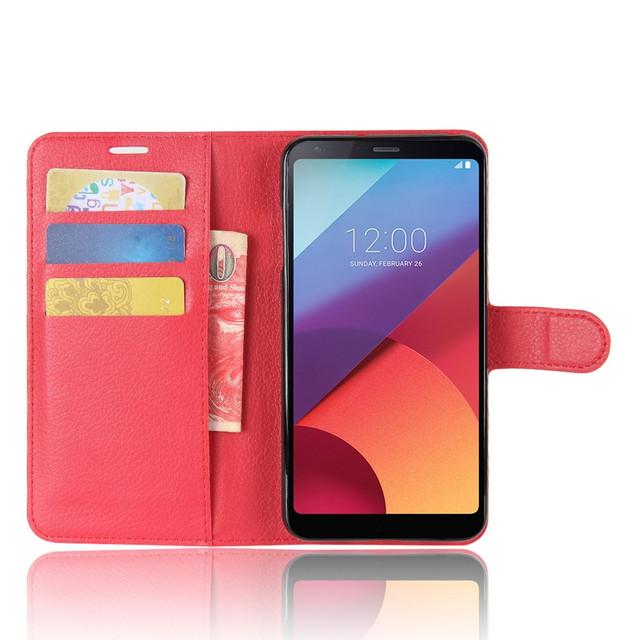 чехол книжка LG V30 красный