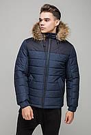 "Мужская зимняя куртка ""Riccardo"" джинс SHORT premium-J(new)"